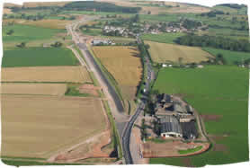 Temple Sowerby Bypass - Temple Sowerby Bypass from the air